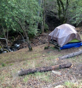 Camping next to the creek at our favorite place in the world.