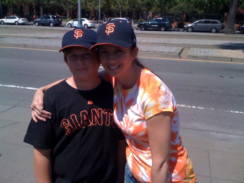 The Taz and I at a Giants game over the summer.