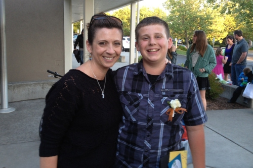 The Taz and me at his 6th grade promotion